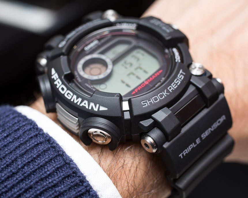 how to set time on g shock frogman