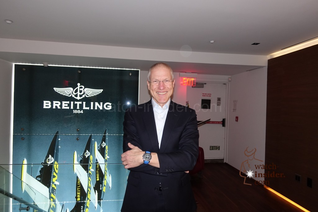 Breitling Vice President Jean-Paul Girardin in the Breitling Boutique in new York.