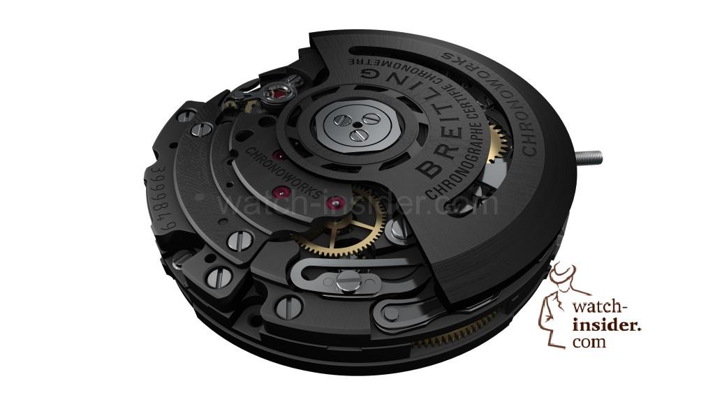 Breitling Superocean Héritage Chronoworks ... Ceramic baseplate and gear-train bridges