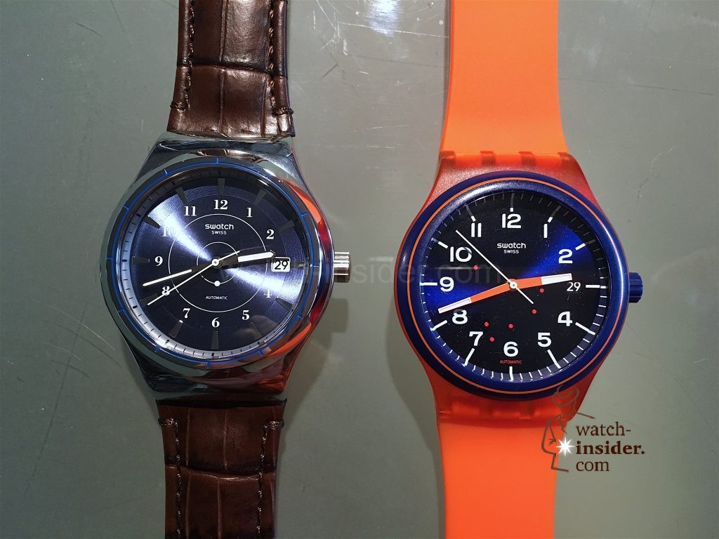 Swatch Sistem51. Right Plastic, left Irony