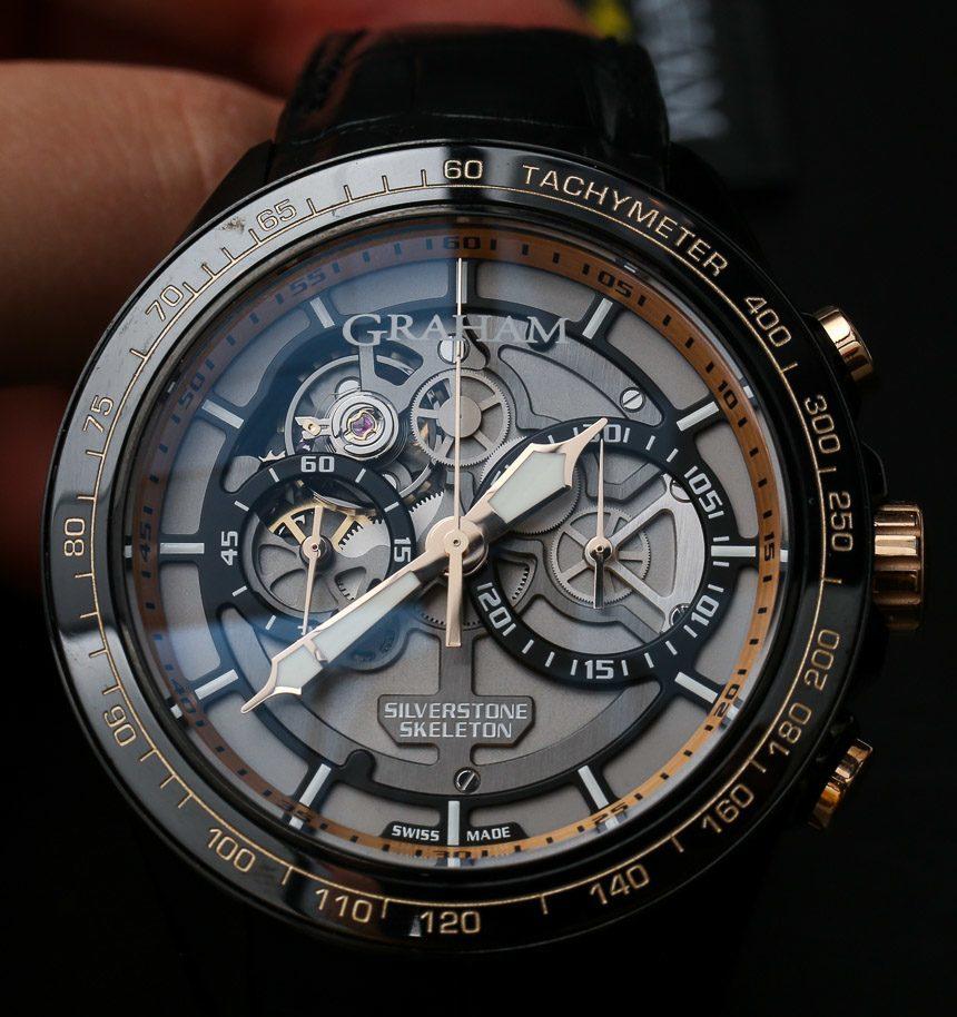 Graham Silverstone RS Skeleton Black & Gold Watch Hands-On Hands-On
