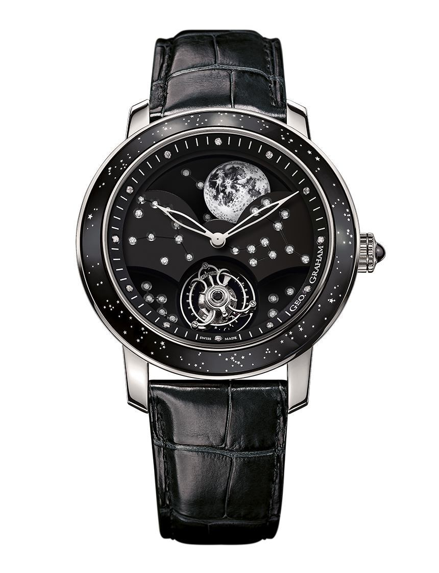 Graham Geo.Graham The Moon Watch Now In A White Gold Case With Black Dial Watch Releases